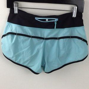 🍋Lululemon Speed Shorts | Aqua Black | 4🍋